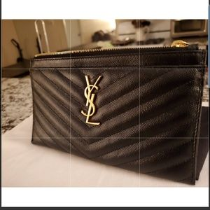 YSL Authentic Bill Pouch Wallet